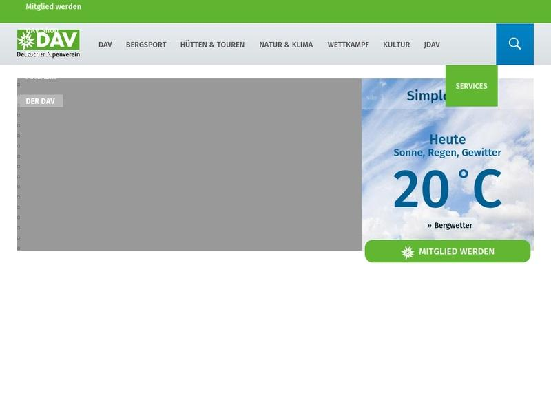 Screenshot von http://www.alpenverein.de/